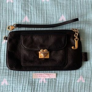 Black Juicy Couture Leather Wristlet or Wallet